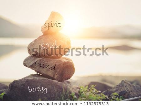 Optimisme zen vrouwelijke yoga cijfer Stockfoto © FOTOYOU