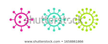 Infection Microbe Flat Vector Icon Stock photo © ahasoft