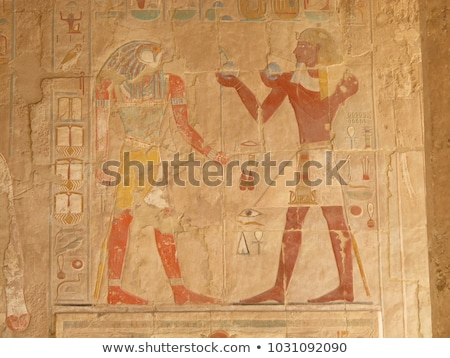 ancient egypt images in temple of hatshepsut stock photo © mikko