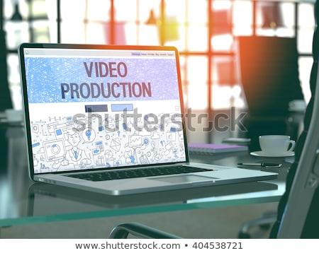 Aterrissagem página laptop o melhor filme 3D Foto stock © tashatuvango