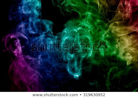 colored smoke in shape of skull on a black background. Stock photo © artjazz