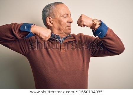 強い · 男 · 筋肉 · 選択フォーカス · 孤立した - ストックフォト © lightfieldstudios