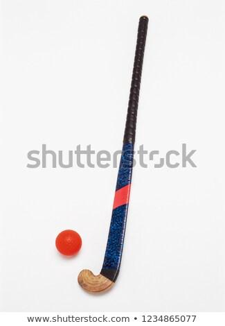 Hockey stick geïsoleerd witte Rood Stockfoto © jeayesy