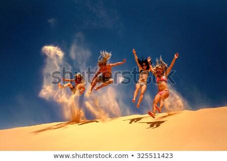 Homem deserto natureza paisagem nuvem perigo Foto stock © IS2