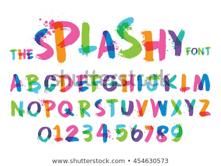 Alphabet letter, stylized colorful liquid ink font. Vector Stock photo © Andrei_