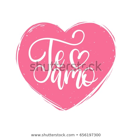 Te amo translation from spain language I love you handwritten calligraphy text for day of saint vale Stock photo © orensila