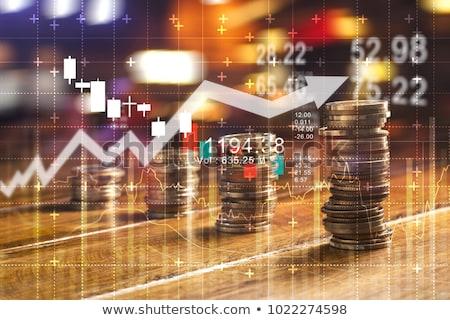 Bitcoin takarékosság beruházás malac érme bank Stock fotó © stevanovicigor