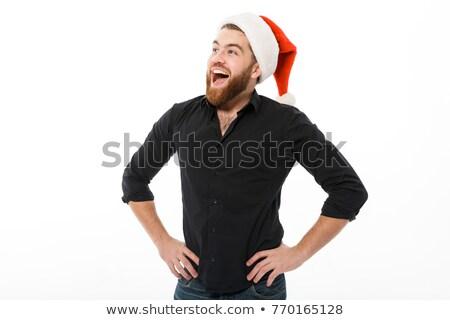 Alegre barbudo homem natal seis Foto stock © deandrobot