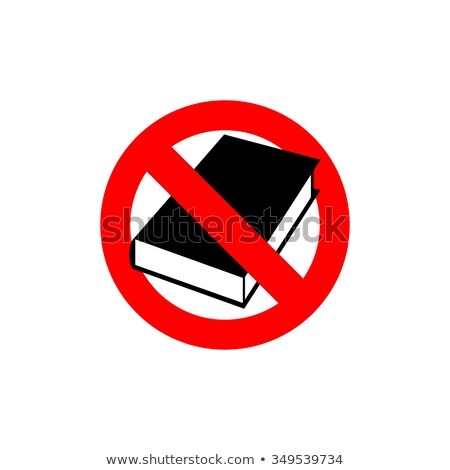 Stop  book. It is forbidden to read. Frozen silhouette books in  Stock photo © popaukropa