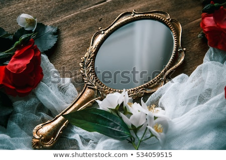 Stock fotó: Ornate Mirror With Reflection And Vintage Background