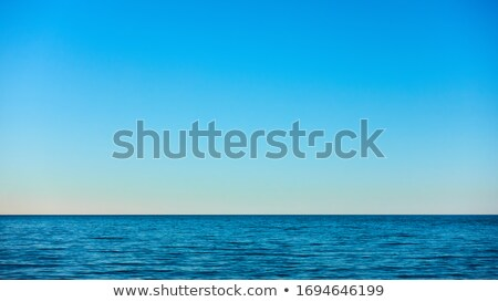 Mavi deniz açık gökyüzü bulanıklık gökyüzü doğa Stok fotoğraf © vapi