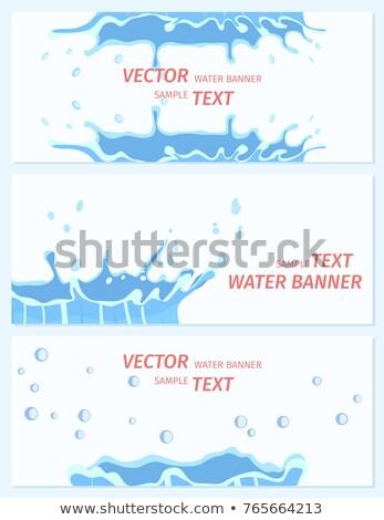 Cartoon · капли · воды · изолированный · белый · улыбка - Сток-фото © robuart