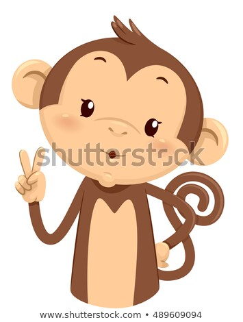 Mascot Monkey Count Two 2 Stock photo © lenm