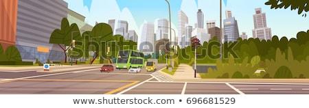 abstract · panorama · kleur · gebouwen · straat · bouw - stockfoto © designleo