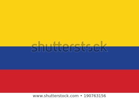 bandiera · Colombia · illustrazione · blu · grafica - foto d'archivio © butenkow