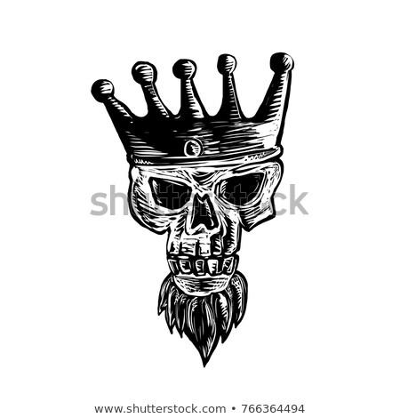 King Beard Skull Scratchboard  Stock photo © patrimonio