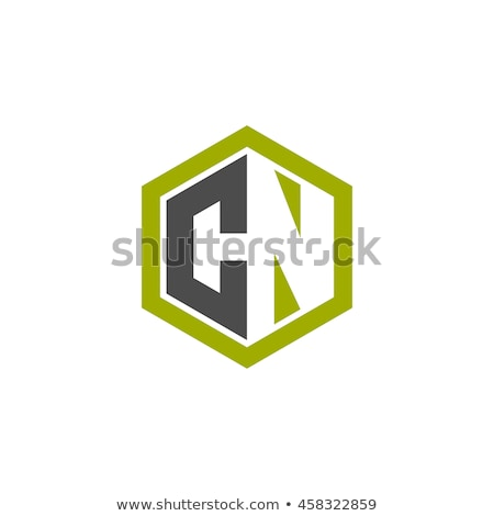 letter n logo icon in polygon hexagonal shape concept design business corporate logo template eleme stock photo © taufik_al_amin