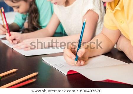 schoolkinderen · studeren · school · bibliotheek · boek · student - stockfoto © monkey_business