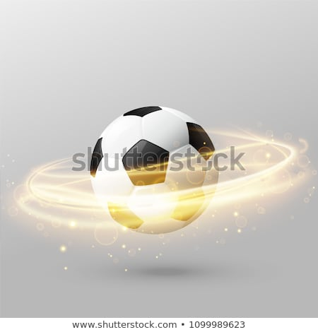 Foto stock: Aislado · fútbol · brillante · luz · anillo · efecto