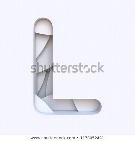 белый аннотация шрифт 3D Сток-фото © djmilic