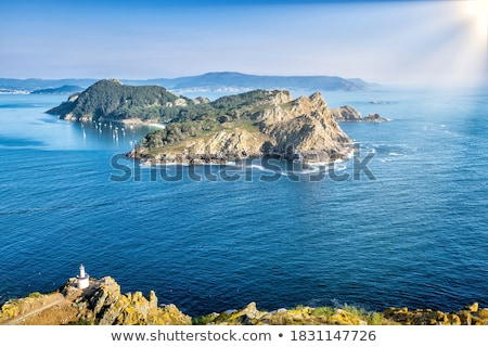 Islas Cies islands San Martino island in Vigo Galicia Stock photo © lunamarina