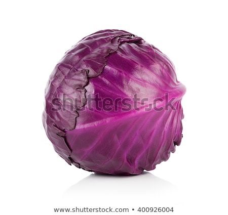 púrpura · col · aislado · blanco · alimentos · hoja - foto stock © ungpaoman