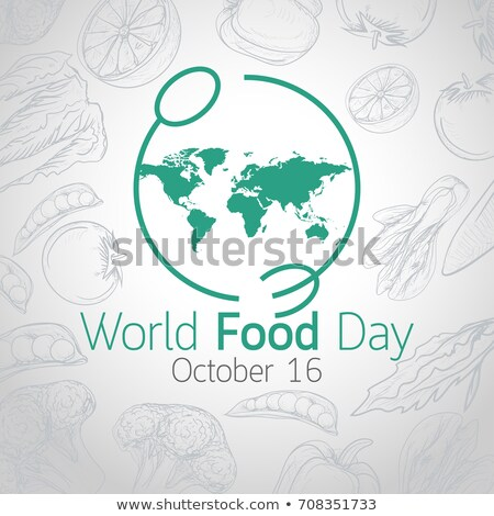 food day card of fruit and vegetable icons stock photo © cienpies