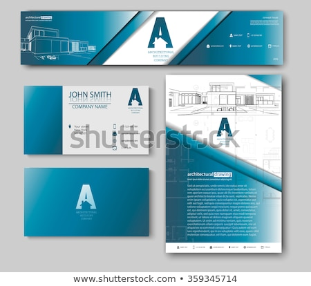 Architect blueprint banners cards set Stock photo © Linetale
