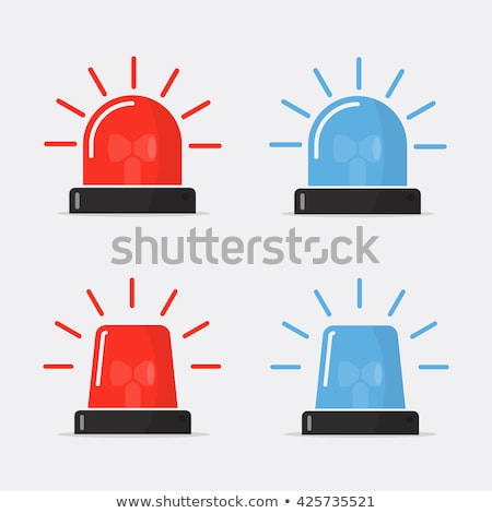 red flashing emergency light icon flat stock photo © smoki