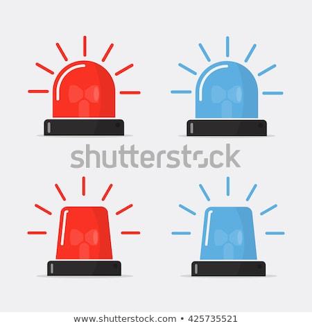 Piros villanó vészhelyzet fény ikon vektor Stock fotó © smoki