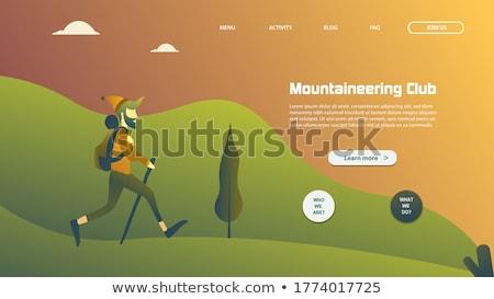 Digitális vektor hegymászás technológia ikonok ikon szett Stock fotó © frimufilms