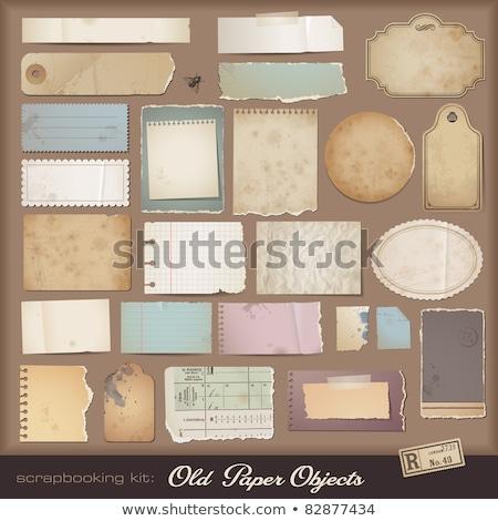 ストックフォト: 古い · 引き裂かれた紙 · ベクトル · ラベル · 実例 · 抽象的な