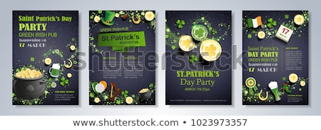 Pot of gold, beer and shamrocks  Stock photo © grafvision