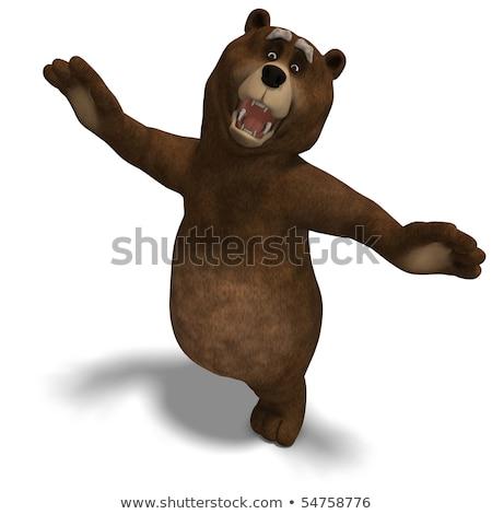 漫画 · クマ · 実例 · 腕 · 脚 · 健康 - ストックフォト © bennerdesign