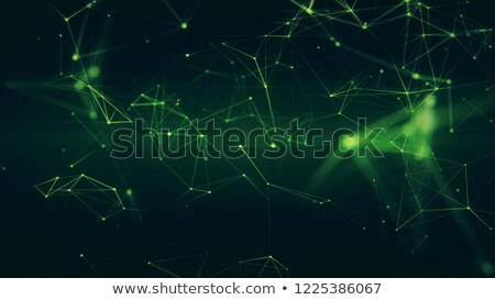 Blockchain network - Abstract connected dots on bright black background. Internet connection, abstra Stock photo © artjazz