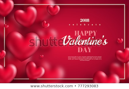 red valentines day greeting card 3d heart balloon stock photo © cienpies