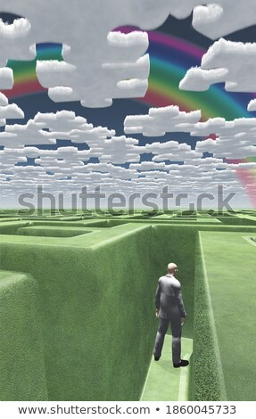3d puzzle jigsaw piece labyrinth maze stock photo © ribah