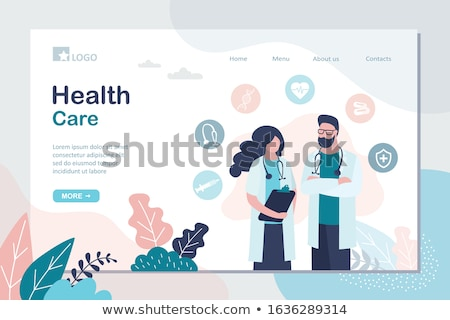 online medical service template 2 Stock photo © Genestro
