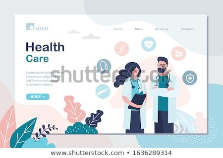 врач · консультация · онлайн · баннер · вектора · медицинской - Сток-фото © genestro