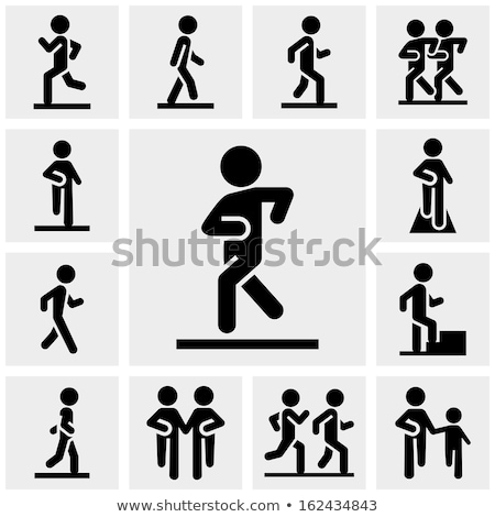vector set of people walk upstair stock photo © olllikeballoon