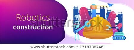 Robotics construction concept banner header. Stock photo © RAStudio