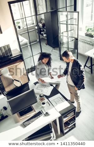 Boss and Employees in Office, Working Process Stock photo © robuart
