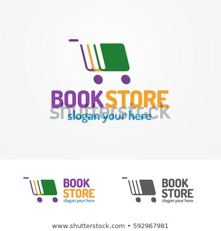 Colore vintage libri shop emblema bookstore Foto d'archivio © netkov1