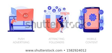 Push advertising concept vector illustration. Stock photo © RAStudio