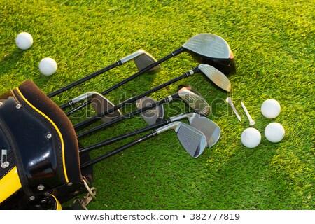 гольф · клуба · мяча · изолированный · белый · трава - Сток-фото © colematt