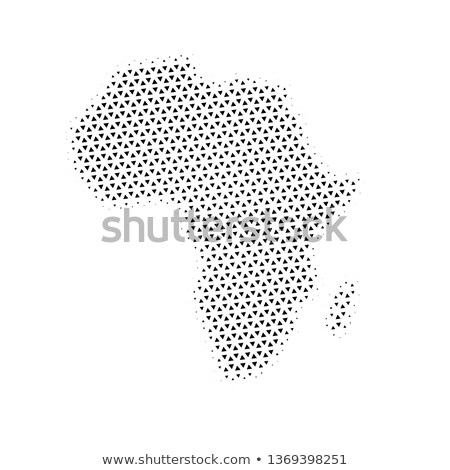 Afrique carte triangle en demi-teinte vecteur pictogramme Photo stock © kyryloff