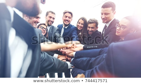 Large group of business people background. Business people in different positions, teamwork concept. Stock photo © makyzz