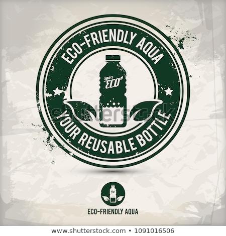 alternative save water stamp stock photo © szsz
