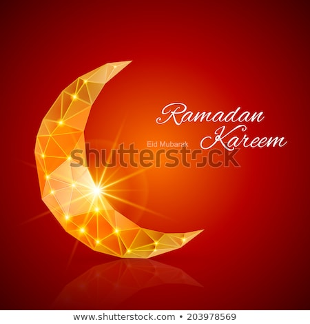 Arany félhold arab minta ramadán pezsgő Stock fotó © Winner