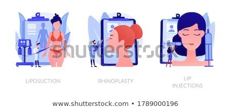 Vrouw vector karakter wederopbouw chirurgie Stockfoto © RAStudio
